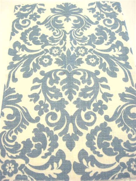 blue and white home decor fabric by poetcharms on etsy