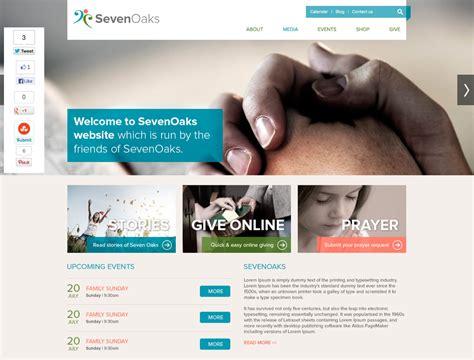 Seven Oaks Church Website Template Free Psd Psdexplorer Free Church Website Templates