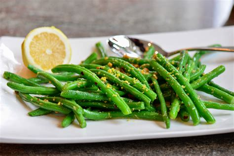 green bean garden green beans with lemon garlic sauce culinary mamas