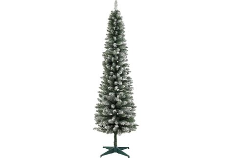 home 6ft snow tipped pencil christmas tree green 163 5 99
