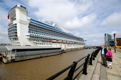 princess cruises from liverpool caribbean princess liner returns to liverpool for first