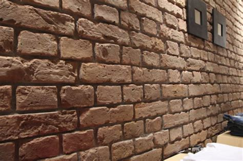 brown brick wall tiles for small house interior design faux brickwork 3d wall panel range for interiors projects