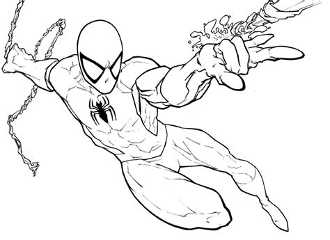 simple spiderman coloring page gallery easy spiderman coloring pages for kids