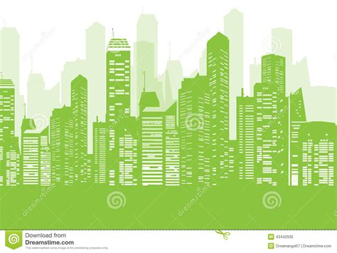 go green city background stock vector image of media green city background stock vector illustration of