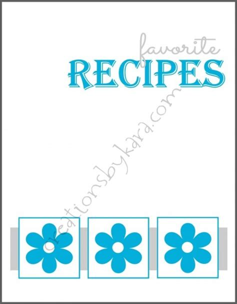 cookbook covers template 6 best images of printable cookbook covers to print