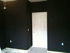 Rooms Painted Black Bryn Alexandra First Coat Done Amp What I Learned