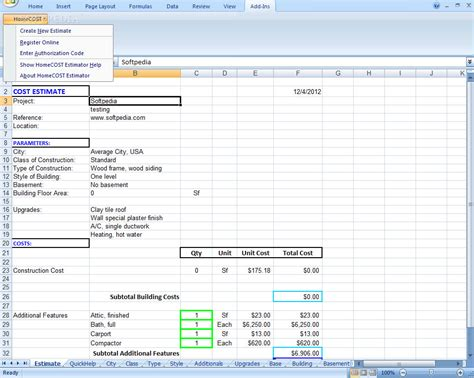 home cost estimator concretecost estimator for excel 6 1 soldanofo s blog