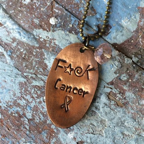 handcrafted  marah johnson fck cancer necklace