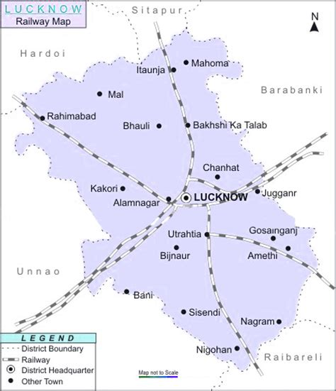 map of lucknow city rail map india lucknow railway map