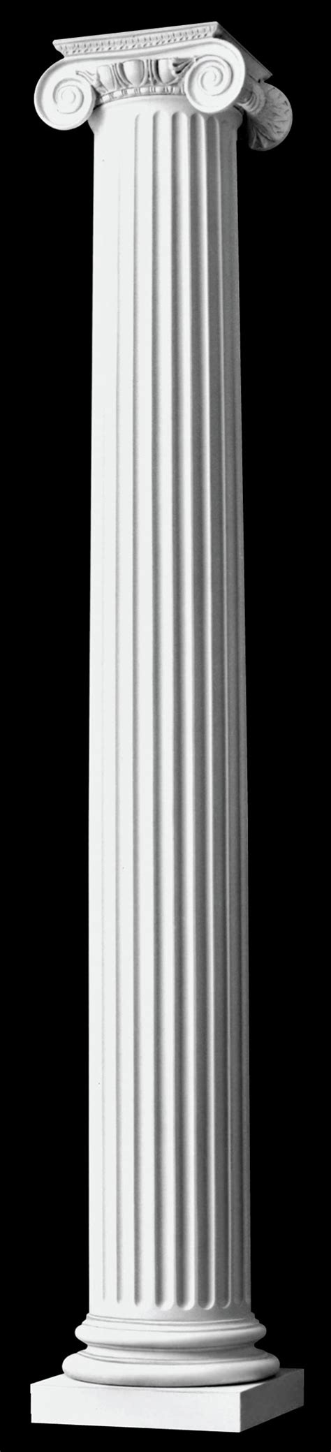 authentic replication ionic wood columns fluted