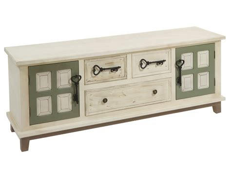 muebles vintage retro mueble tv retro de madera color crema con puertas verdes