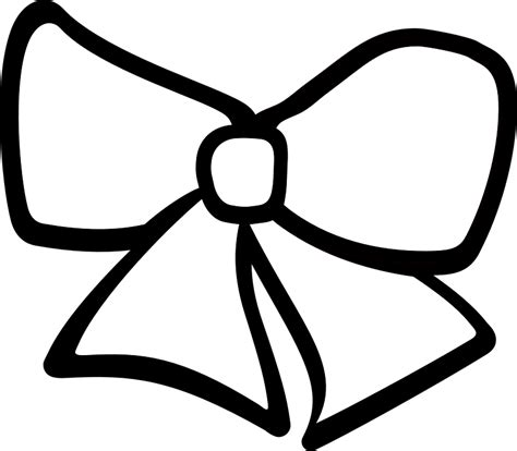 girl bow coloring page free vector graphic ribbon hair bow clothing free