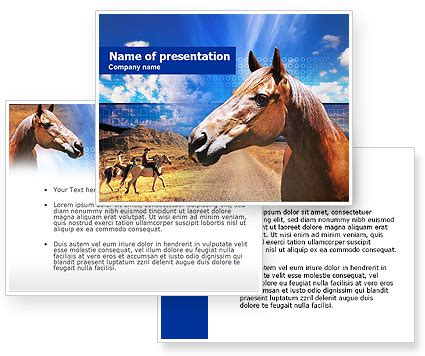 powerpoint templates free download horse horse powerpoint template poweredtemplate com 3