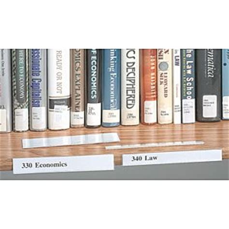 Library Shelf Label Holders by Shelf Label Holder Clear Plastic Construction With