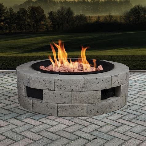 Grand Resort Gas Fire Pit Kit With 35x35 Insert Gas Firepit