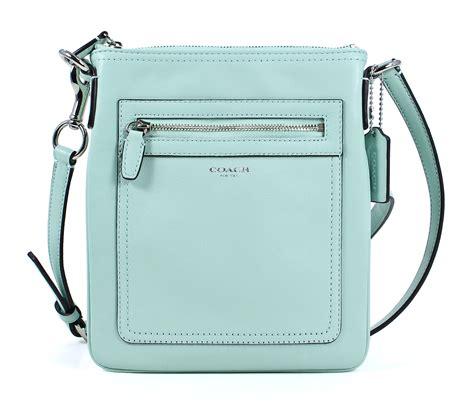 coach legacy leather swingpack mint green crossbody