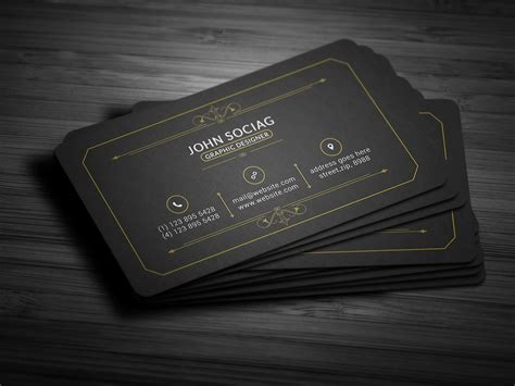 black and silver business card templates 25 black and gold business card templates