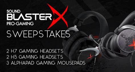 Gaming Sweepstakes - sound blasterx pro gaming sweepstakes mmorpg com news