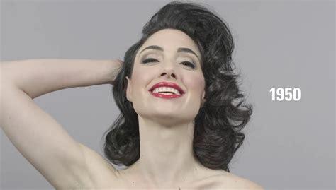 Dinara Top 1 2 約1分で過去100年で美しいとされた化粧やヘアスタイルの変遷が分かる 100 years of in 1 minute gigazine