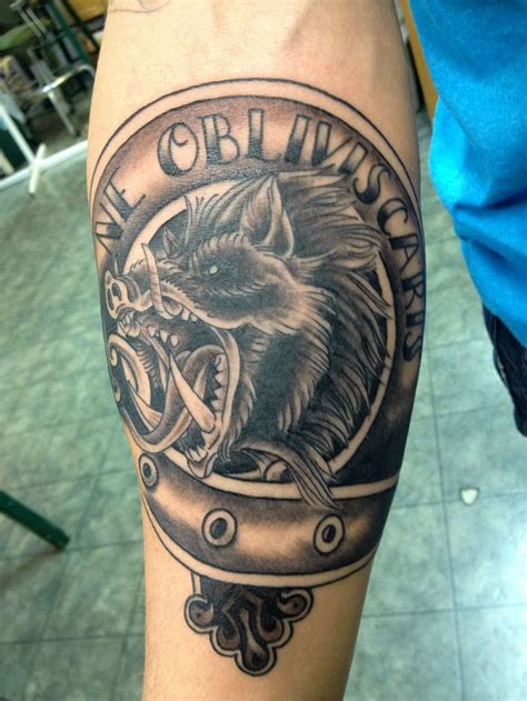 right arm tattoos grey ink angry boar on right arm jpg