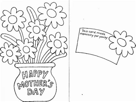 coloring page mother day card special greeting card for mom on mothers day coloring page