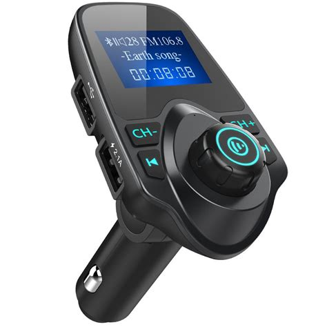 Car Charger Max 1a 1 44 lcd screen car bluetooth fm transmitter free