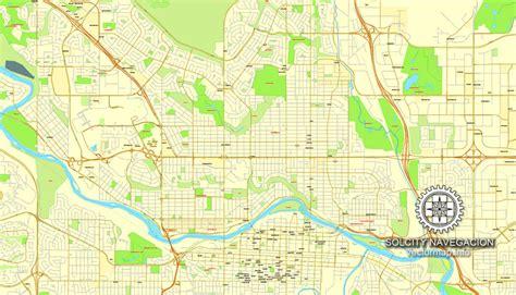 calgary city map streets calgary map pdf printable city plan map of calgary
