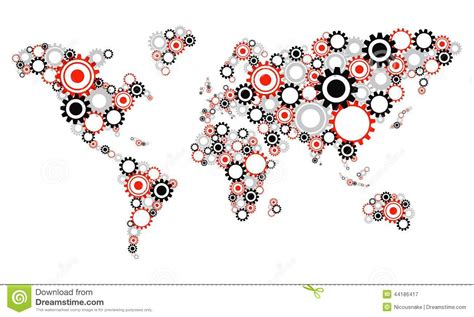 world cities map vector transparent cog wheels world map stock vector image