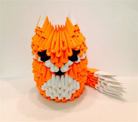3d origami fox 3d origami fox by laurenanisa on deviantart