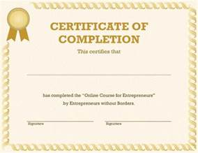 Free In One Certificate Template 7 certificates of completion templates free