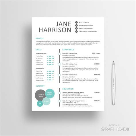 creative resume template microsoft word creative resume template cover letter word resume by