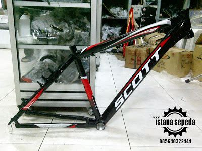 Frame Whisker Hitam Merah istana sepeda frame murah cuma rp 600 000