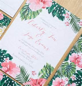 hawaiian wedding invitation ideas tropical hawaiian wedding invitation by sincerely may