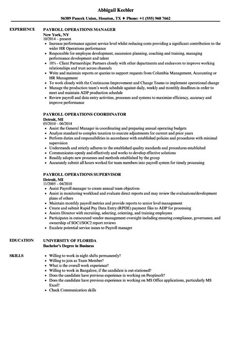 sle payroll manager resume objective payroll administrator resume sle resume compliance exle
