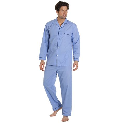 Comfortable Mens Pajamas by Classic Style Mens Breathable And Comfortable Sky Blue Pyjamas