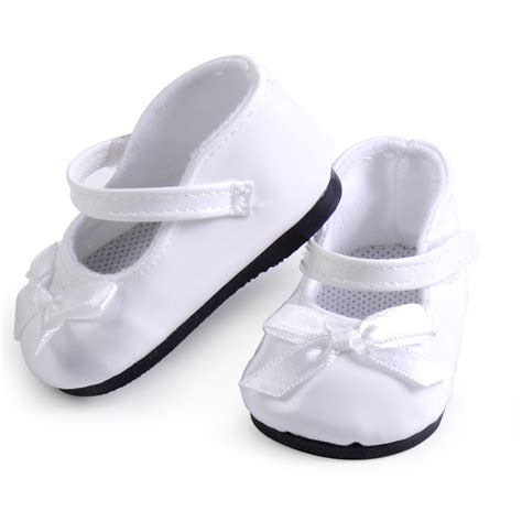 american doll ballet shoes 18 quot american white patent leather doll shoes ballet
