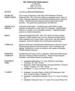 industrial maintenance worker resume sample resumes design