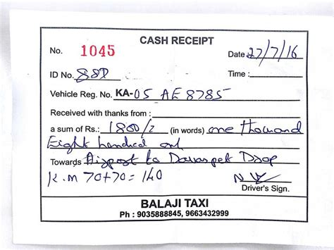 taxi receipt template india cab bill format matthewgates co