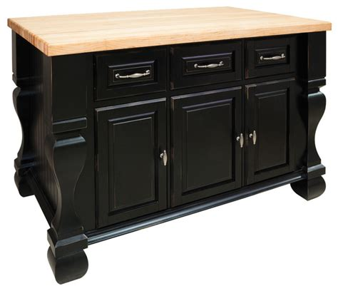 jeffrey kitchen island distressed black