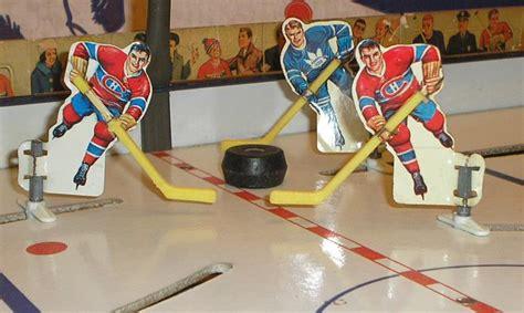 table top hockey vintage table top hockey players 1965 canadiens vs leafs hockeygods