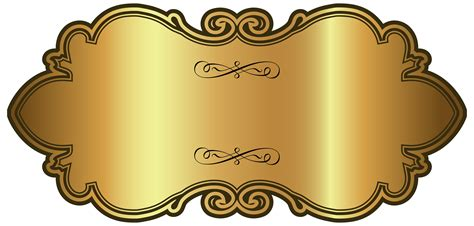 Golden Luxury Label Template Png Clipart Image Gallery Yopriceville High Quality Images And Luxury Template