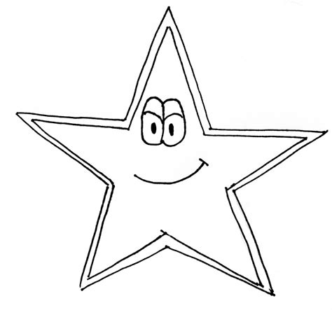 coloring page of the north star star cartoon drawing