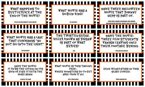 printable games for older adults halloween trivia game with free printables kids version