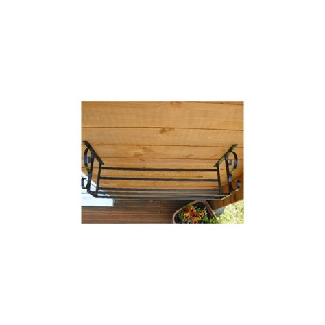 wrought iron crafted garden trough holder - Wall Mounted Window Boxes