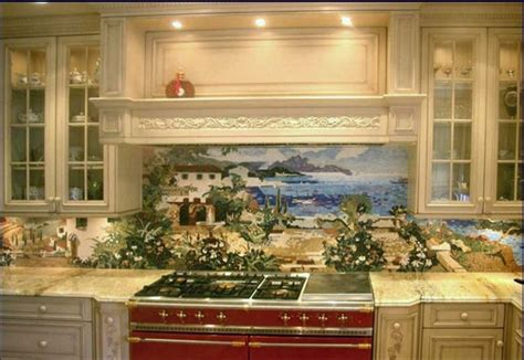 murals for kitchen backsplash custom kitchen mural backsplash mosaics by vita