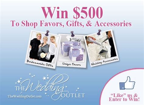 Top Sweepstakes Sites - the wedding outlet 500 sweepstakes topweddingsites com