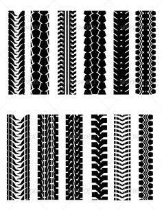 CLIPART TIRE TRACKS SET   tire tracks   Clip art, Tired