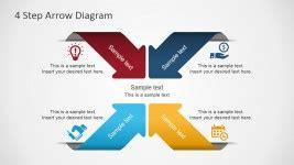 7196 01 4 step arrow diagram 1 slidemodel arrows for powerpoint presentations