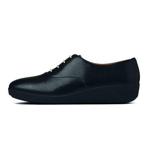 fitflop oxford shoes fitflop fitflop oxford lace up in soft black leather