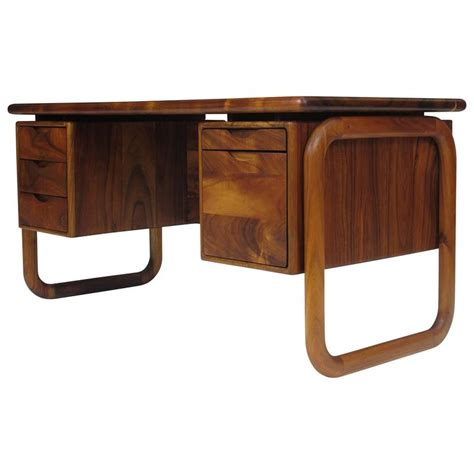California Studio Handcrafted Koa Desk For Sale At 1stdibs Studio Desks For Sale